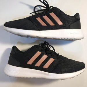 Adidas | Black Lace & Rose Gold Sneakers